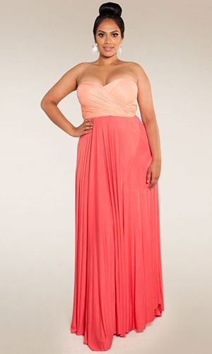 Plus Size Convertible Maxi Dress at www.curvaliciousclothes.com Sizes 1X-6X