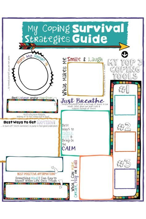 Coping Skills For Kids A Fun Coping Strategies Survival Guide Worksheet Kids Coping Skills Coping Skills Activities Counseling Lessons