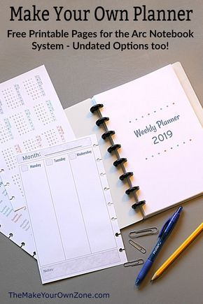 2019 Free Printable Planner Pages The Make Your Own Zone Planner Printables Free Printable Planner Pages Diy Planner Printables