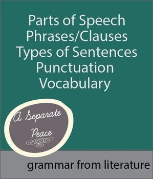 a separate peace chapter 13 vocab Free summary and analysis of chapter 13 in john knowles's a separate peace that won't make you snore we promise.
