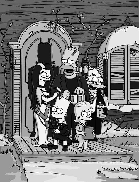The Simpsons│ Los Simpson - - - - - - The Munsters, The Simpsons, Simpsons Springfield, Simpsons Halloween, Los Simsons, Simpsons Treehouse Of Horror, Rick E, Futurama, Cartoon Memes