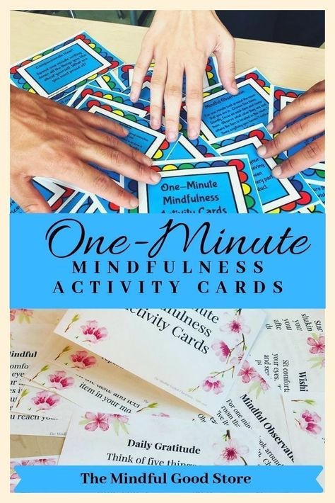 One-Minute Mindfulness Activity/Task Cards Printable Instant Download