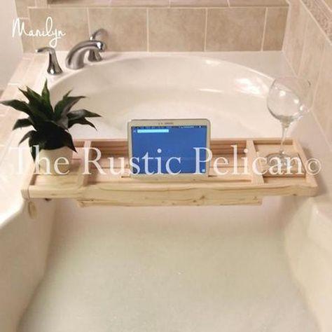 Ipad Tray Reclaimed Wood Bath Tray Wood Bath Tray Wood Bathtub