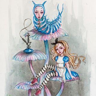 алиса в стране чудес глава пятая синяя гусеница даёт совет