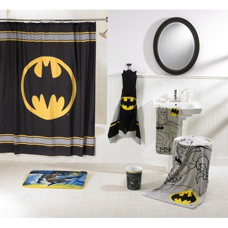 Home Batman Bathroom Bathroom Sets Fabric Shower Curtains