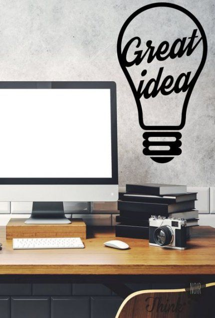 60 New Ideas Diy Room Decir For Men Thoughts Office Wall Decals