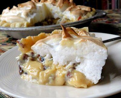 Raisin Sour Cream Meringue Pie Recipe Delicious Pies Meringue Pie Sour Cream