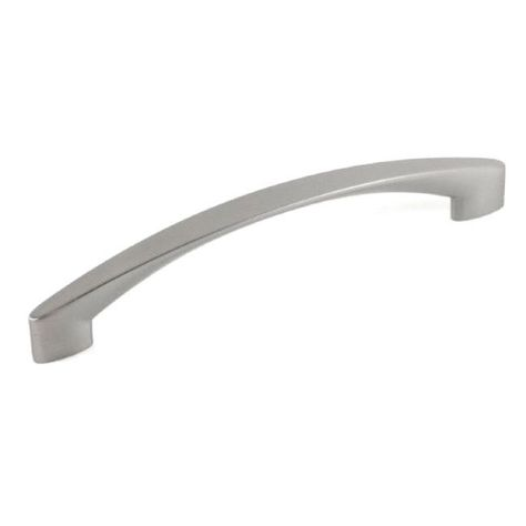 PAIR OF LARGE ARCHED BOWED KITCHEN WARDROBE HANDLE SATIN DOOR CHROME MODERN