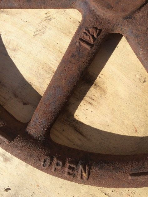 Ohio Antique Cast Iron Valve Hand Wheel Eddy Valve Co Coshocton