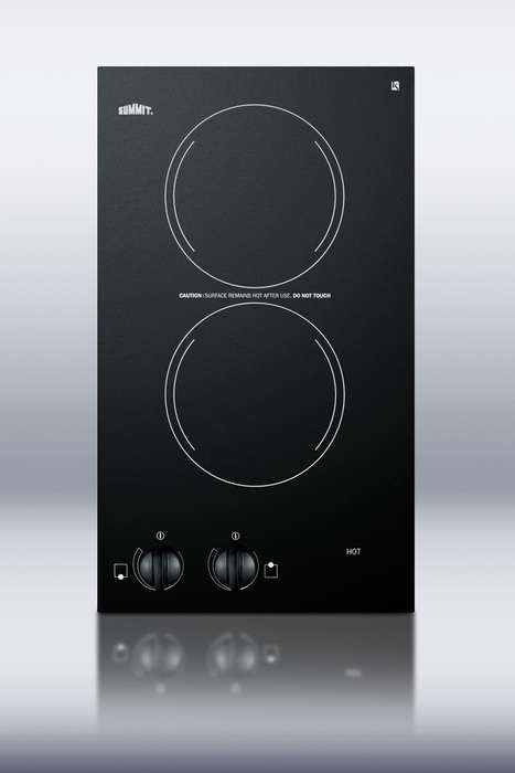 Cr2110 By Summit Electric Cooktops Goedekers Com Electric Cooktop Cooktop Double Burner