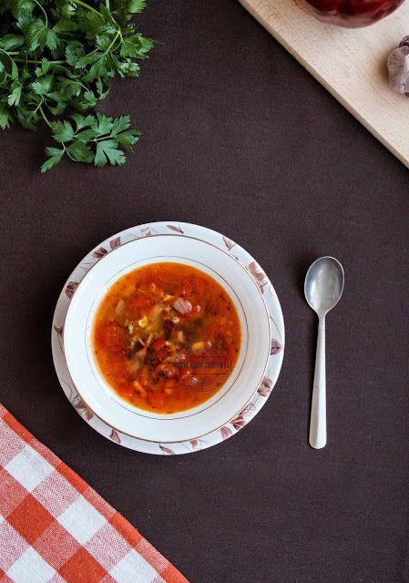 Meksykanska Ostra Zupa Chili Con Carne Z Czerwona Fasola Mieso