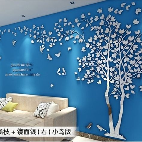 Creative Tree 3d Stereo Acrylic Wall Sticker Living Room Sofa Tv Background Wall Interior Room Warm Decor U2azqz1430 Y1 In 2020