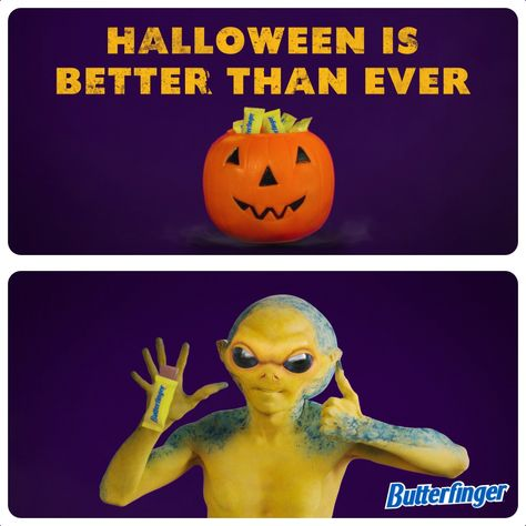 Get your hands on some Butterfinger this Halloween. The one-of-a kind; crispety, crunchety, peanut-buttery treat!