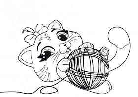 Desenhos Da Lulu 44 Gatos Para Colorir Paginas Para Colorir