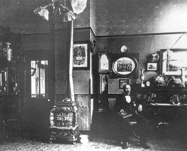 Funeral Home owner Edgar Ray Butterworth, in the funeral home office around the time of Tom Blanck's funeral. Courtesy Bert Butterworth, Seattle.  More info at: http://www.panicd.com/location.php?ln=1090