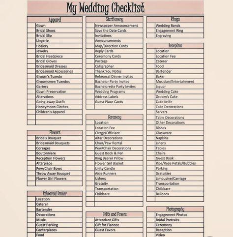 Wedding Planner Checklist, Wedding Planning Timeline, Event Planning Tips, Wedding Checklists, Diy Wedding Planning Checklist, Wedding Preparation Checklist, Wedding Ceremony Checklist, Destination Wedding Checklist, Reception Checklist