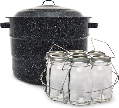 Open Thread Crofton 21 5 Quart Canner With Rack Utensil Set