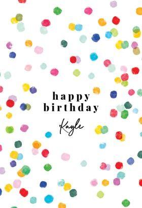 Confetti Party Birthday Card Greetings Island Birthday Cards Confetti Party Virtual Birthday Cards
