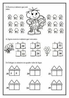 Atividade Aprendendo Os Numeros Volume 2 Matematica