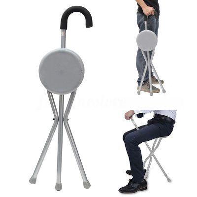 Travel Cane Walking Stick Seat Camp Hiking Folding Portable Stool Chair Us Ship Walking Stick With Seat Walking Canes Walking Sticks