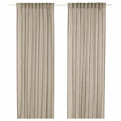 Ikea Lejongap Linen Curtains 57 X 98 2 Panels Beige 1 Pair