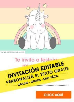 23 Invitaciones De Unicornios Gratis Para Editar