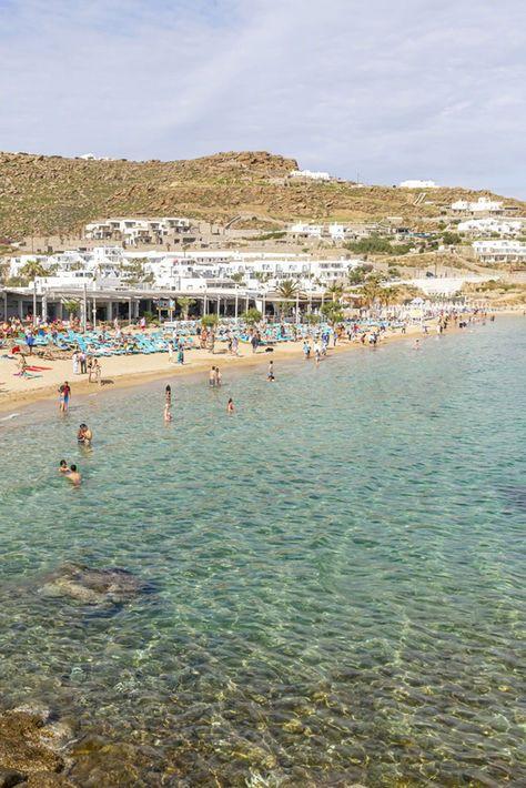 Paradise Beach Mykonos Greece