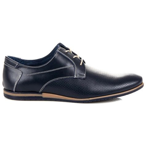 Polbuty Meskie Lucca Niebieskie Azurowe Polbuty Lucca Lucca Dress Shoes Men Oxford Shoes Men Dress
