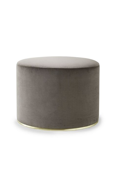 grey storage ottoman. i have one that i use as a bed- side table at ...