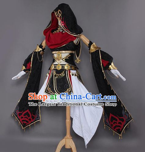 Chinese Traditional Cosplay Costumes Ancient Swordswoman Hanfu Dress for Women Swag Outfits For Girls, Cool Outfits, Cosplay Outfits, Cosplay Costumes, Knight Costume, Fairytale Fashion, Costume Shop, Hanfu, Character Outfits