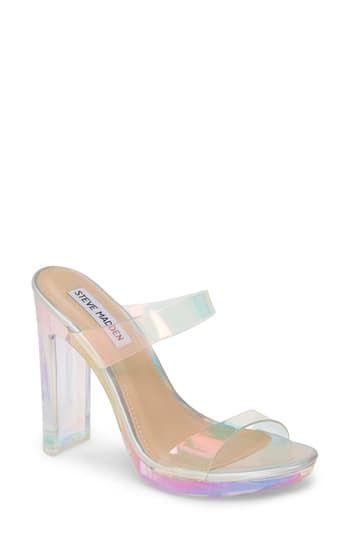 Chic Steve Madden Glassify Clear Sandal