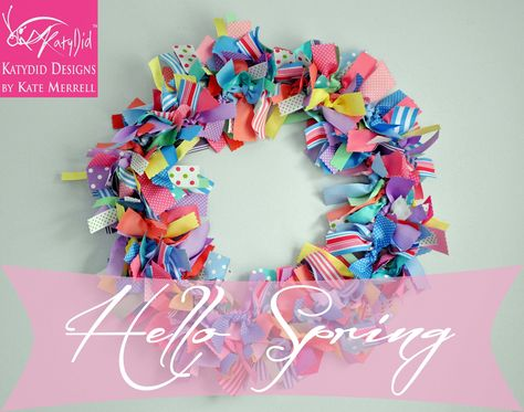 Spring Wreath #katydid @Katydid Designs
