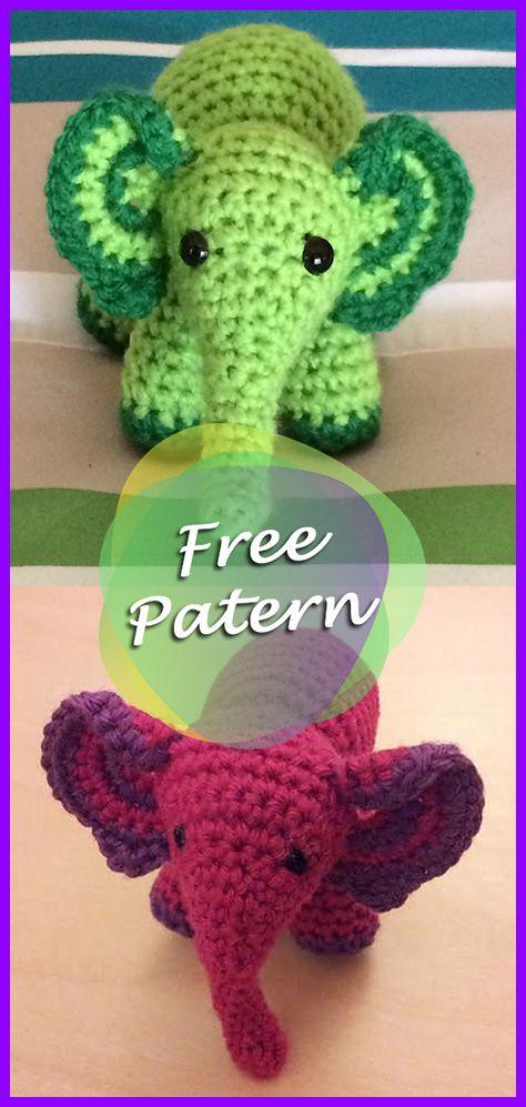 Meimei Baby Elephant Amigurumi Crochet Free Pattern   crochet   Baby