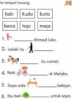 Bahasa Melayu Language Malay Grade Level Preschool School Subject Bahasa Preschool Activities Printable Kindergarten Reading Worksheets Preschool Worksheets