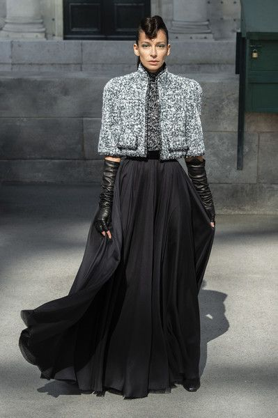Runway pictures from the Chanel show at Couture Fall