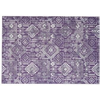 Lisbeth Traditional Jacobean Floral Purple Area Rug In 2021 Purple Area Rugs Grey Area Rug Blue Area Rugs
