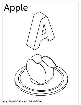 A For Apple Alphabet Coloring Pages Alphabet Coloring Kindergarten Coloring Pages