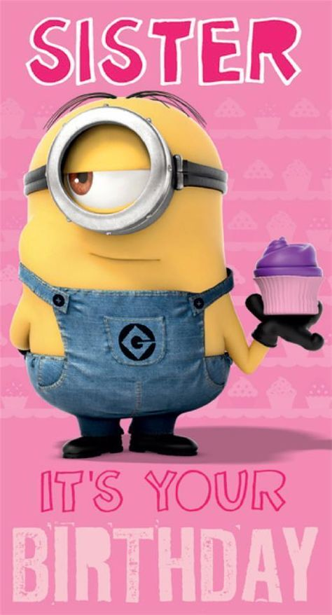 199 Gbp Clearance Despicable Me Minion Sister Birthday Card Ebay