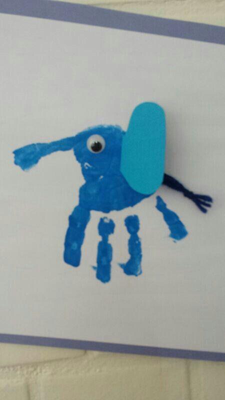 Handabdruck Elefant Bastelideen Sommer Pinterest