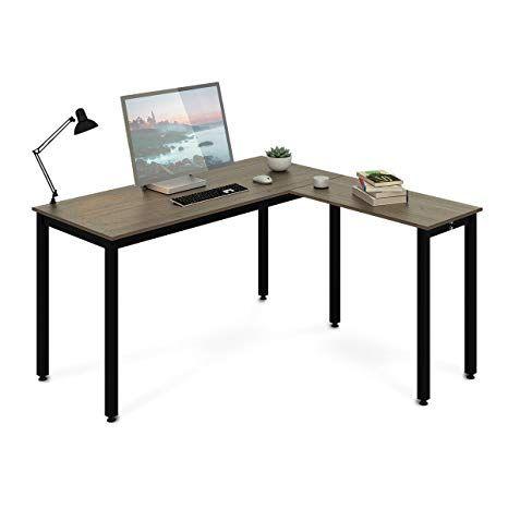 Amazon Com Devaise Wood L Shaped Corner Computer Desk For Home