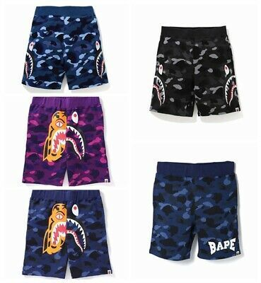 Men/'s A Bathing Ape Bape Sports Casual Loose Shorts Blue Camouflage Shorts....