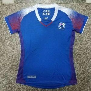 hot sale online 32019 fc960 2018 World Cup Women Jersey Iceland Home Replica Blue Shirt ...