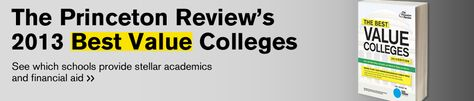 The Princeton Review 150 Best Value Colleges for 2013 from USATODAY.com