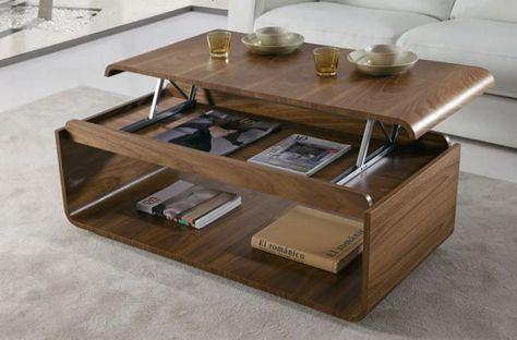 Zoom Sur La Table Basse Avec Plateau Relevable Avec Images Table Basse Avec Plateau Relevable Table De Salon Table Basse Relevable Extensible