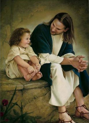 Friends with Jesus Christ - Love this picture! Makes me think of our baby who is in heaven with Jesus. :)