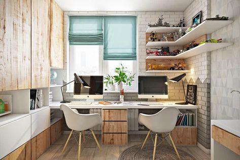 Arbeitszimmer Einrichten Wandgestaltung Bringt Abwechslung In