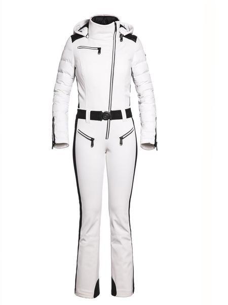Goldbergh Flame One Piece White Ski Suit Winternational Co Uk