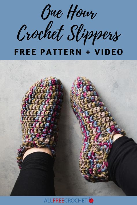 Want to make an adorable pair of quick and simple slippers in a short amount of time? These One Hour Crochet Slippers are exactly what you need.