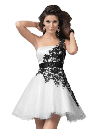 Robe cocktail blanche et or
