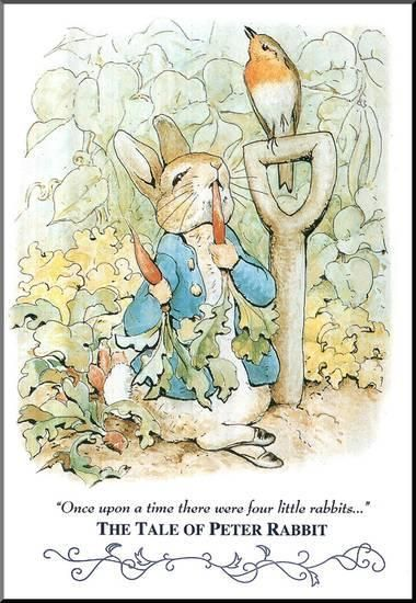 """Official Peter Rabbit /""""Once Upon A Time/"""" Wall Sticker Mural"""